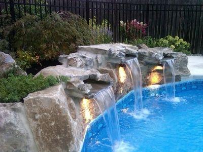 установка водопадов дома фото