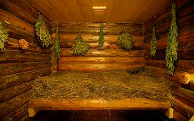 сауна травяная фото